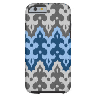 Moroccan Ikat Damask, Blue and Gray / Grey Tough iPhone 6 Case