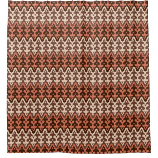 Moroccan Ikat Damask, Brown, Taupe & Rust