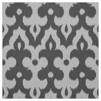 Moroccan Ikat Damask Pattern, Shades of Gray Fabric