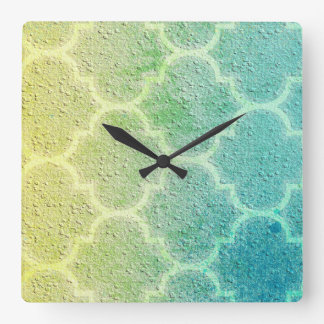 Moroccan Inspired Colorful Pattern Wall Clock