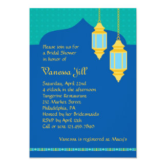 Moroccan Lantern Bridal Shower Invitation