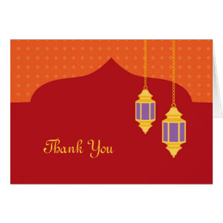 Moroccan Lantern Thank You Card