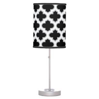 Moroccan Lattice Gray White Black Desk Lamps