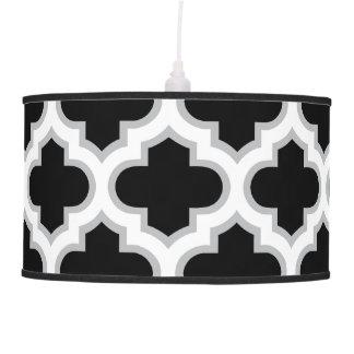 Moroccan Lattice Gray White Black Pendant Lamps