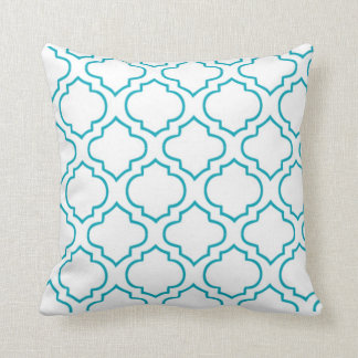 Moroccan Lattice Pillow - Turquoise