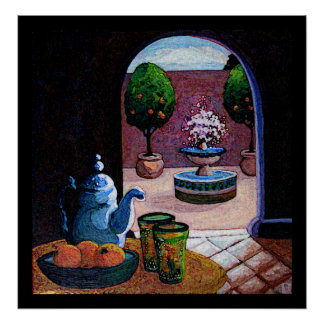Moroccan mint tea poster