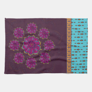 Moroccan Moonflower #1 Kitchen Towel