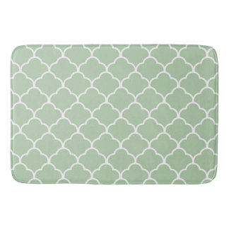 Moroccan Neutral Green Bath Matt Bath Mat