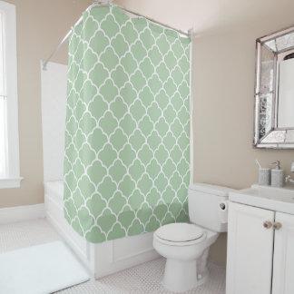 Moroccan Neutral Green Shower Curtain