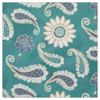 Moroccan Paisley Floral Art Pattern Modern Vintage Fabric
