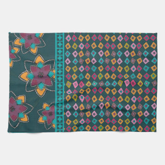 Moroccan Patchwork design tea towel
