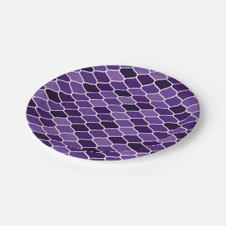 Moroccan pattern 7 inch paper plate