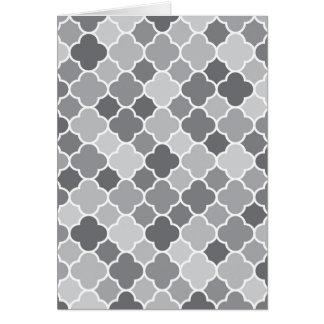 Moroccan pattern card