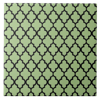 Moroccan pattern ceramic tile