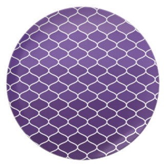 Moroccan pattern dinner plate