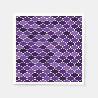 Moroccan pattern disposable napkins