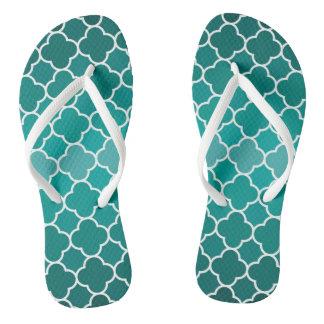 Moroccan pattern flip flops