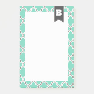 Moroccan Pattern in Seafoam Personalized Post-it Notes