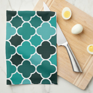 Moroccan pattern kitchen towel