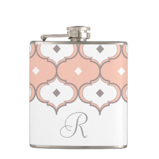 Moroccan Pattern Monogram Flask