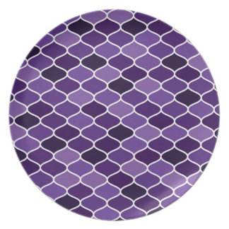 Moroccan pattern party plates