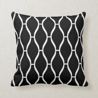 Moroccan Pattern Pillow in Black and White