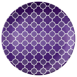 Moroccan pattern porcelain plates