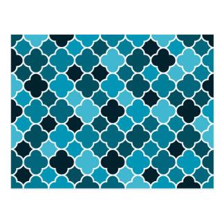 Moroccan pattern postcard