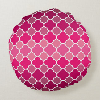 Moroccan pattern round pillow
