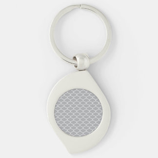 Moroccan pattern Silver-Colored swirl keychain