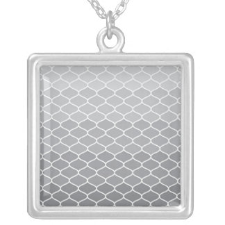 Moroccan pattern silver plated necklace