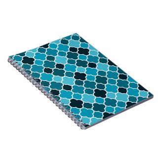 Moroccan pattern spiral note books