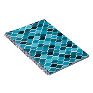 Moroccan pattern spiral notebooks