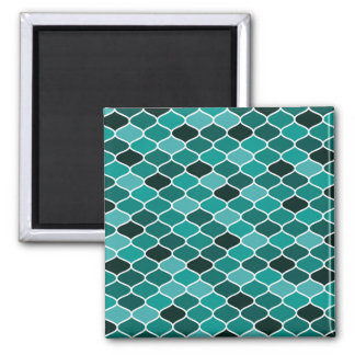 Moroccan pattern square magnet