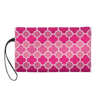 Moroccan pattern wristlet purse