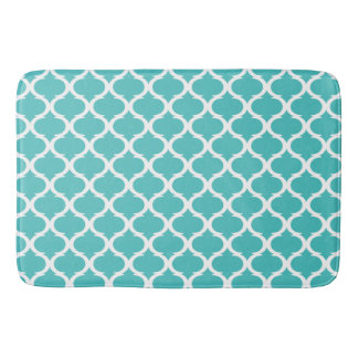 Moroccan Patterned Robins Egg Blue Bath Mat (1)