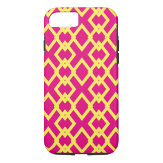 Moroccan Pink Yellow Bright Bold Pattern iPhone 7 Case