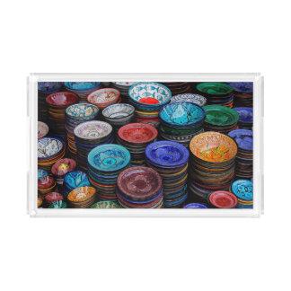 Moroccan Plates At Market Acrylic Tray