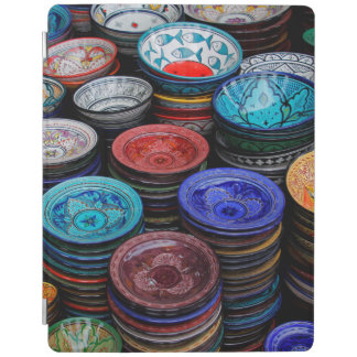 Moroccan Plates At Market iPad Cover