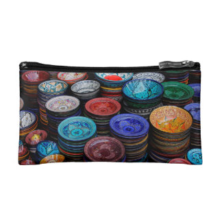 Moroccan Plates At Market Makeup Bag