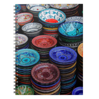 Moroccan Plates At Market Notebook