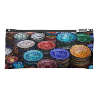 Moroccan Plates At Market Pencil Case