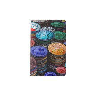 Moroccan Plates At Market Pocket Moleskine Notebook