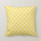 Moroccan Quatrefoil Pattern Pillow | Lemon Yellow