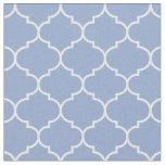 Moroccan Quatrefoil Serenity Blue & White Fabric