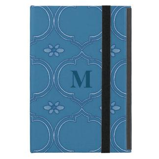 Moroccan Quatrefoil Tile Floral Pattern Watercolor Case For iPad Mini