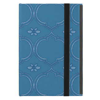 Moroccan Quatrefoil Tile Floral Pattern Watercolor Cover For iPad Mini