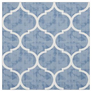 Moroccan Quatrefoil Tile Pattern Home Decor Fabric