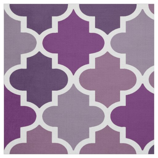 Moroccan Quatrefoil Tile Pattern | Purple Shades Fabric