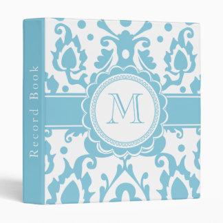 Moroccan Record Book Elegant Damask Monogram Binder